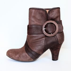 Jeffrey Campbell Brown Leather Booties